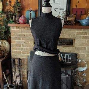Preview collection top and skirt gray color